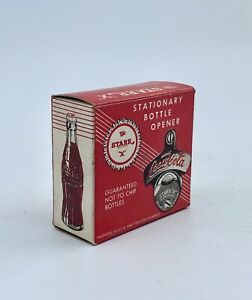 1970s COCA-COLA Wall Mount BOTTLE OPENER  Starr X USA  with box