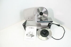 Adjusable Electric Deli Meat Slicer W Two 7 5in Serrated Stainless Steel Blades