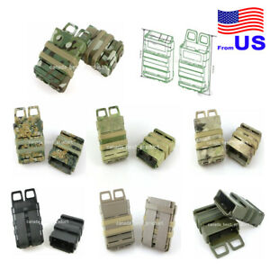 Tactical Airsoft Fast Magazine Pouch Holder Pouch Set 5.56 Molle System USA $20.69