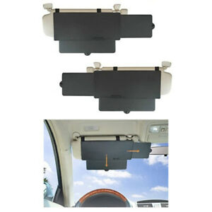 Car Sun Visor Extension Extender Shield Front Side Window Shade Anti Glare Truck