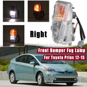 Right Front Led Bulb Fog Light Drl Driver Marker Lamp For Toyota Prius 2012 2015