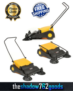 Industrial Push Sweeper Heavy Duty Hard Floor Cleaner Plastic Cleaning Machine