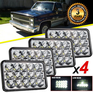4pcs 4x6 75w Sealed Led Headlights For Chevy C10 C20 C30 K10 Pickup C4500 C5500