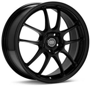 Enkei Pf01a 18x9 5 5x114 3 45mm Offset Black Wheel Rims For Ford Mustang