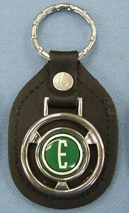 Vintage Green Edsel E Ford Steering Wheel Leather Key Ring 1958 1959 1960