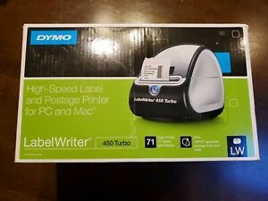 Dymo Labelwriter 450 Turbo Direct Thermal Label Printer New Open Box Never Used
