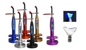 Dental 5w Wireless Cordless Led Curing Light Dentist Lamp 1500mw whitening Tip