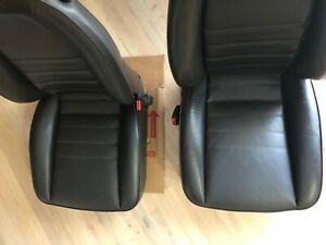 Porsche 911 930 Front Seats Recaro Brown Leather Power Tested L R Pair 86