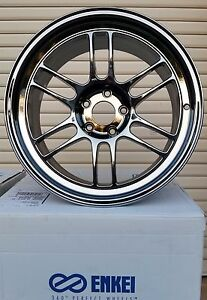 Enkei Rpf1 18x9 5 5x114 3 15 Wheels Rims Sbc Chrome 379 895 6515sbc Tax Back