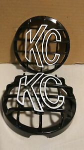 6 Round Black Abs Light Grille W Yellow Kc Logo For Daylighter Slimlite