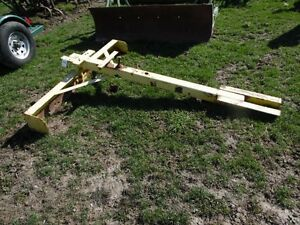 Homemade Grader Box Blade For A John Deere M Mt Tractor Belly Mount Tag 948