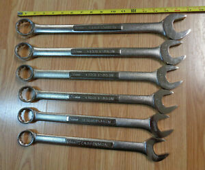 Made In Usa Craftsman 25mm 32mm Large Metric Combination Wrench Set 6 Pc
