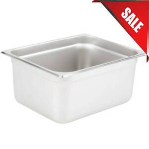 Multiple Sizes Stainless Steel Silver Deep Steam Prep Table Hotel Food Pan