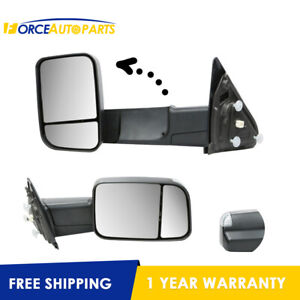 L r Black Towing Mirrors W Heated Signal For Dodge Ram 1500 2500 3500 03 09