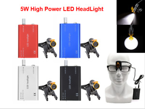 5w Dental Plastic Clip High Power Led Headlight With Light Shield Shade Dy 007