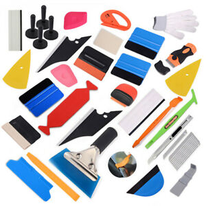 Car Vinyl Wrap Tool Kit Window Tint Installation Decal Squeegee Scraper Magnets