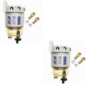 Fuel Filter Water Separator 120at For Racor R12t Marine Spin on 2pcs