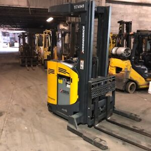 2013 Jungheinrich 4000lbs Reach Truck Used Forklift Triple Mast Sideshift