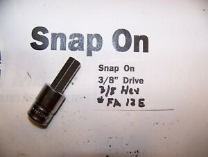 Snap On 3 8 Drive Hex Allen 3 8 Socket Adapter Driver fa12e