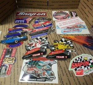 New Vintage Snap On Tools Lot Of 17 Tool Box Stickers Decals Man Cave Bumper