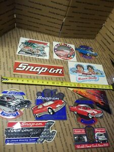 New Vintage Snap On Tools Lot Of 11 Tool Box Stickers Decals Man Cave Bumper