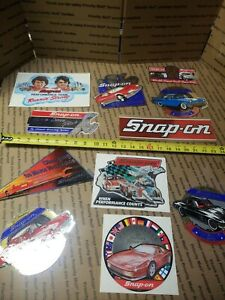 New Vintage Snap On Tools Lot Of 11 Tool Box Stickers Decals Man Cave Bumper 8