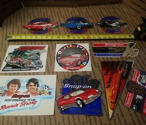 New Vintage Snap On Tools Lot Of 10 Tool Box Stickers Decals Man Cave Bumper