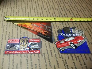 New Vintage Snap On Tools Lot Of 3 Tool Box Stickers Decals Man Cave Racing
