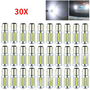 Us 30x White Bay15d 1157 1142 Car Tail Stop Brake Light 5630 Smd 33led Bulb Lamp