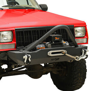 Stubby Front Bumper With Stinger Fit 1984 2001 Jeep Cherokee Xj