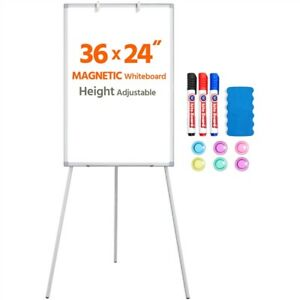 Portable Magnetic White Board Adjustable Metal Tripod Whiteboard Dry Erase Board