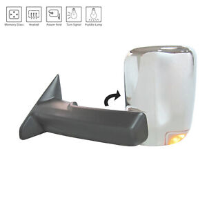 Chrome Driver Side Door Mirror With Memory With Puddle Lamp Ch1320398