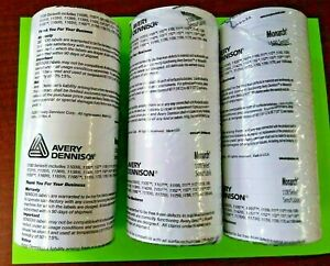 Avery Monarch 1100 Series White Labels For Label Gun Lot Of 3 Packs 16ct New