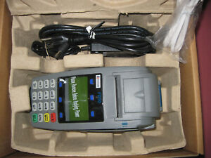 First Data Fd50 ti Credit Card Terminal Nib With Cables And Instructions