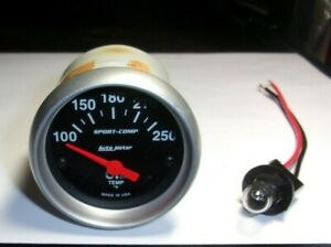 Autometer 3347 Sport Comp 2 1 16 Electric Oil Temperature Gauge 100 250f
