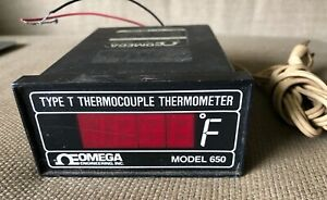 Omega Model 650 Type T Digital Thermocouple Thermometer 120vac Made In Usa