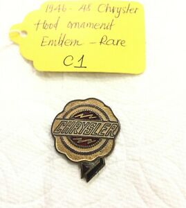 Used Original Chrysler Hood Ornament Emblem For 1946 48 Chevy Truck c1