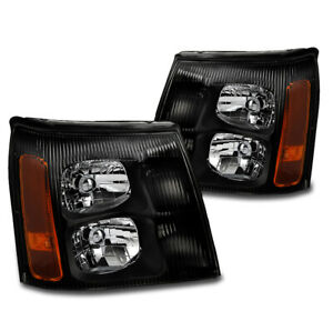 For 2003 2006 Cadillac Escalade esv ext hid Model Black Replacement Headlights
