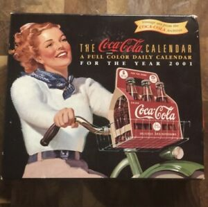 The Coca-Cola Year 2001 Calender Matching Mailing Envelope New