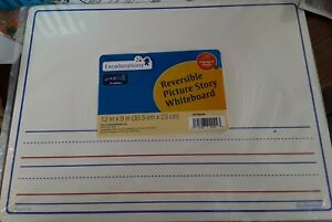 Excellerations Dry Erase Learning Reversable Picture Story Whiteboard 12x9 Nip