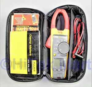 Fluke 375 Trms Ac dc Clamp Meter Case Probes Tested Working