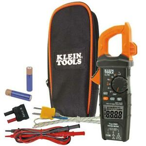 Klein Tools 600 Amp Ac True Rms Auto ranging Digital Clamp Meter Temp Cl700 New