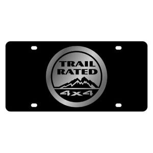Eurosport Daytona 3445 1 Mopar Black License Plate W Silver Trail Rated Logo