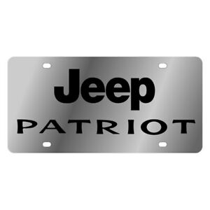 Eurosport Daytona Mopar Polished License Plate W Black Jeep Patriot Logo