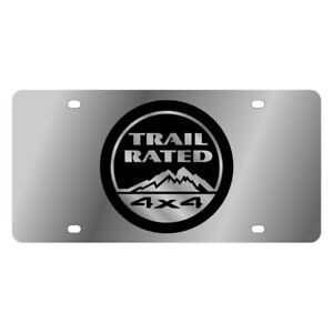 Eurosport Daytona Mopar Polished License Plate W Black Trail Rated Logo
