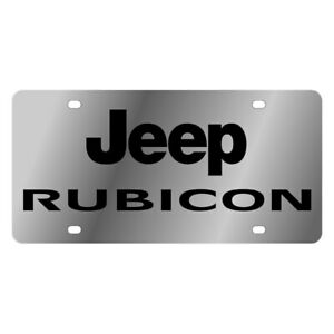 Eurosport Daytona 1440 1 Mopar Polished License Plate W Black Rubicon Logo