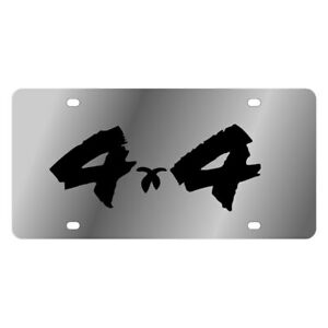 Eurosport Daytona 1410 1 Mopar Brushed License Plate W Black 4x4 Logo