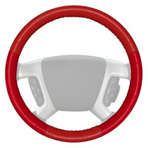 For Chevy Traverse 18 20 Steering Wheel Cover Europerf Perforated Red Steering