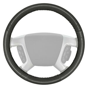 Europerf Perforated Charcoal Steering Wheel Cover W Charcoal Sides Color