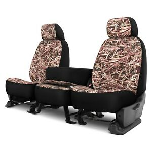 Dash Designs Cowboy Camo 1st Row Berry Custom Seat Covers